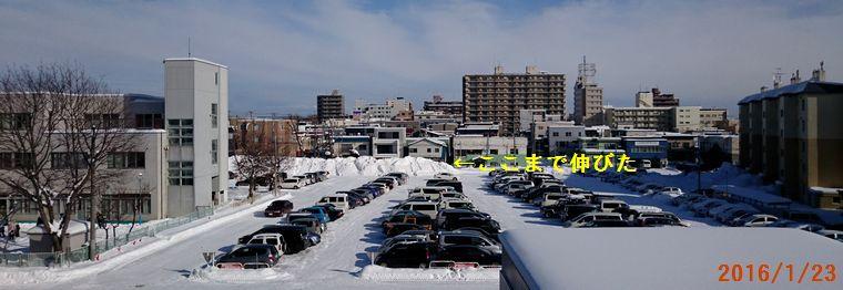 今日の駐車場1/23.jpg