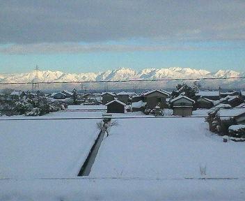 冬に立山連邦を見れるのは珍しい