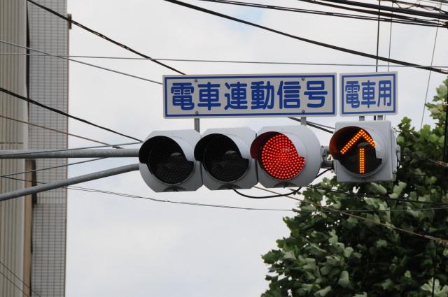 信号 黄色 の 矢印