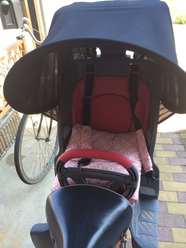 自転車の 1歳 自転車 後ろ : 子乗せ自転車の日よけ | YONACHIKU ...