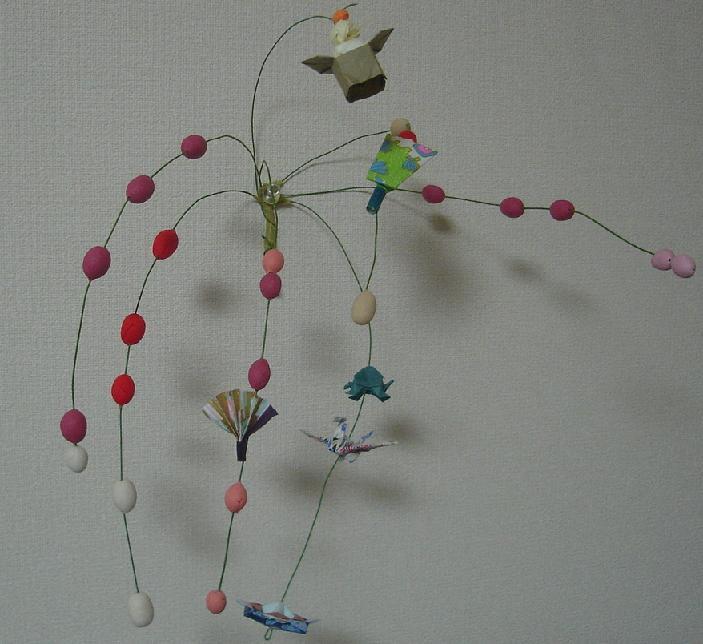 すべての折り紙 お正月飾り折り紙作り方 : お正月飾り..連獅子・餅花 ...
