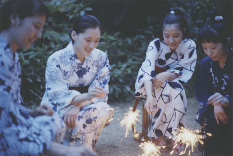 四姉妹で花火