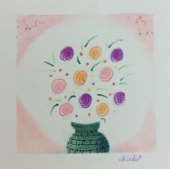 Chiekoさん 花びんの花.jpg