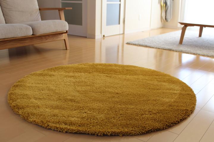 IKEAの円形ラグマットÅDUMで可愛くオシャレな北欧コーディネート