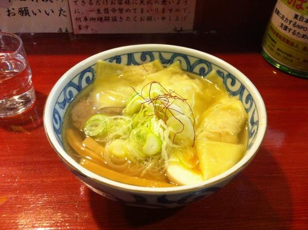 麺屋 十郎兵衛 純和鶏塩ワンタンメン(二杯目)