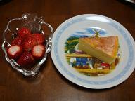 誕生日のチーズケーキ2