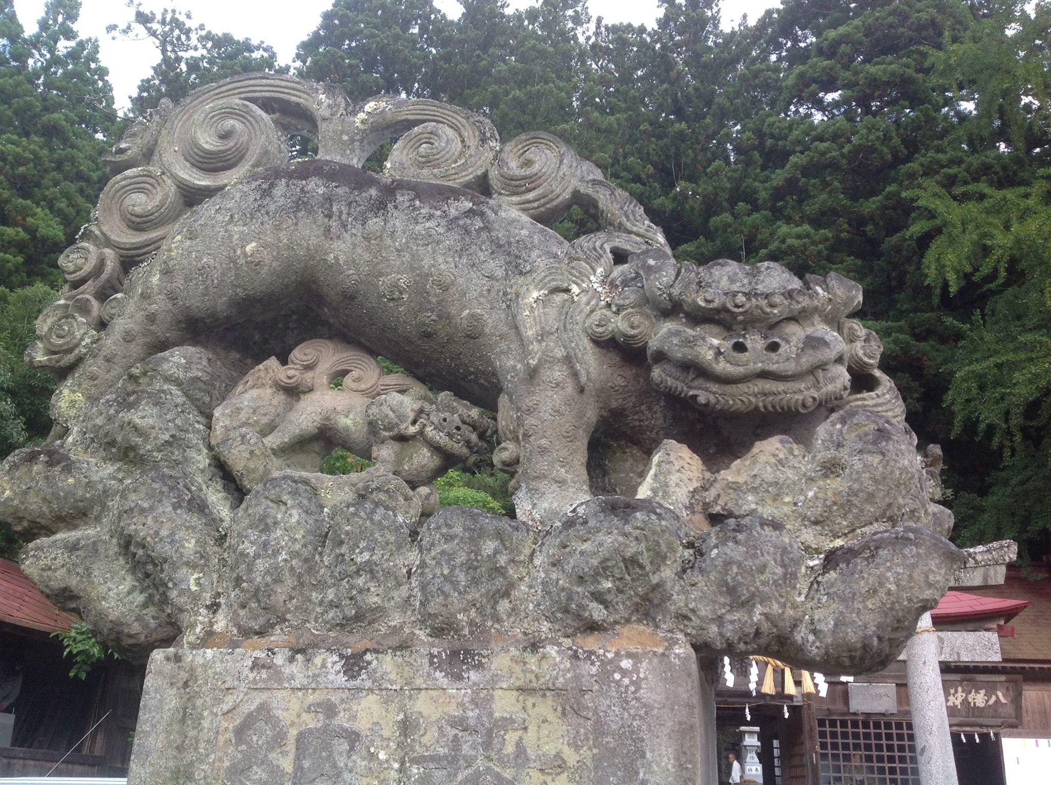 狛犬(古殿八幡神社) 小林和平...