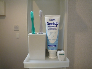 ガラス歯ブラシスタンド・1本用