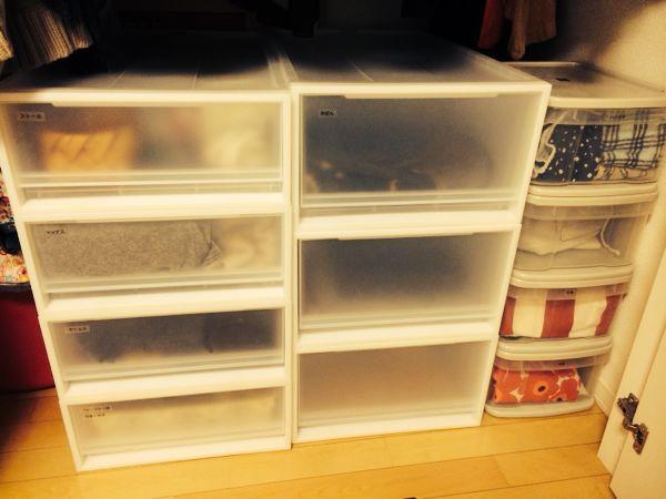 我が家では、洗面室の衣類収納に