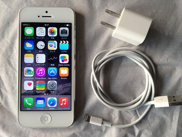 Softbank版 iPhone5 16GB 本体 ホワイト 中古