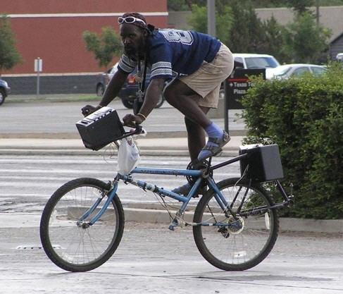 乗り辛い自転車