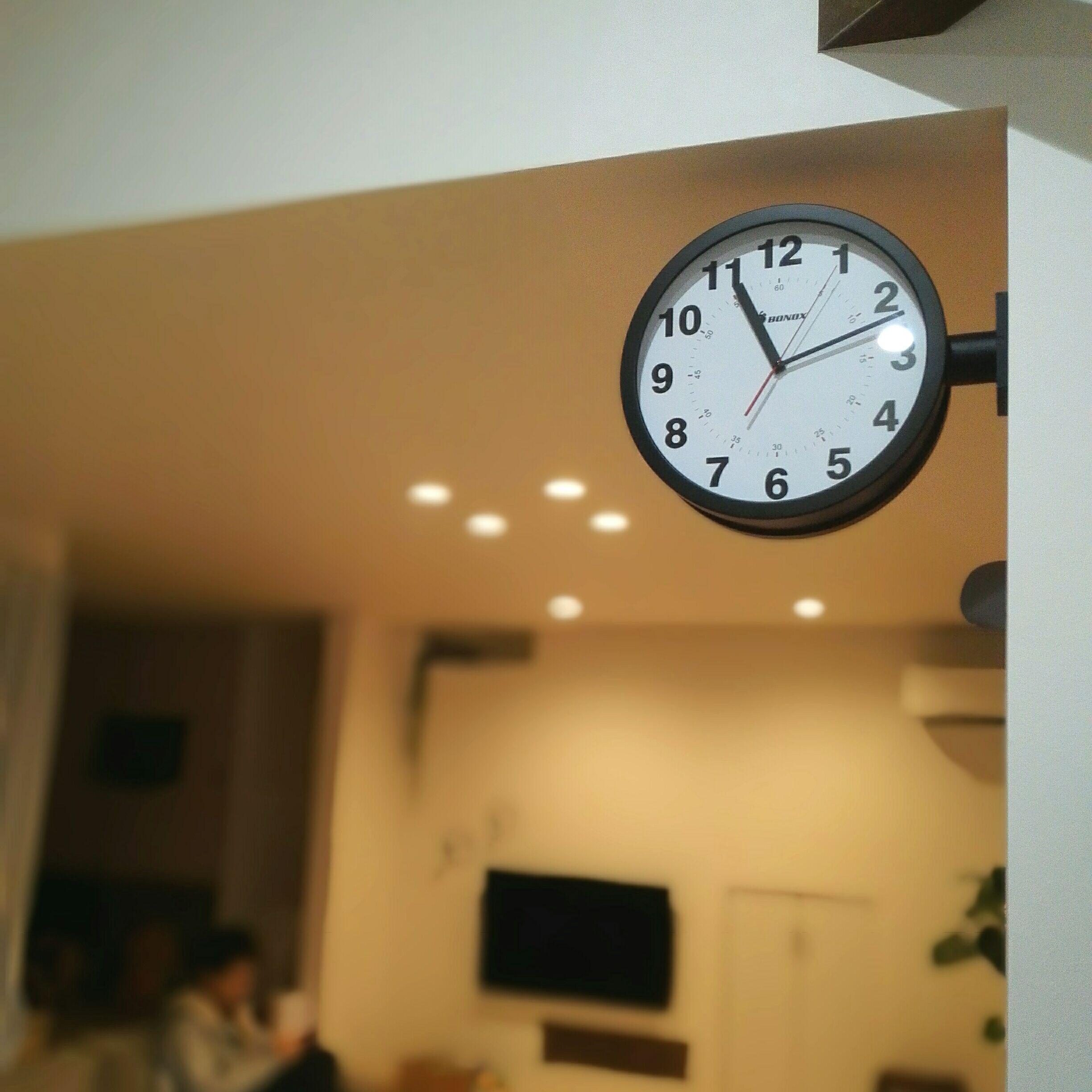 無印良品 公園の時計ミニ ブラウン