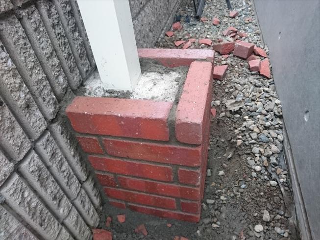 フェンス柱レンガ
