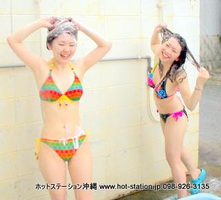 沖縄ダイビング 温水シャワー 更衣室