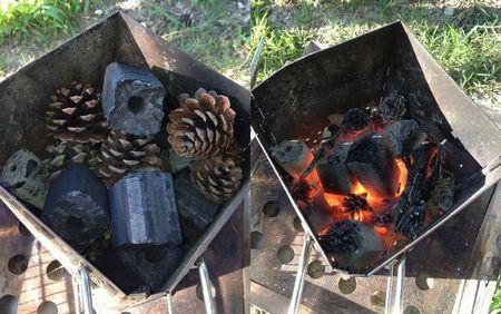 火 備長 起こし 炭
