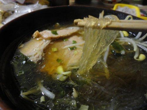 寒天ラーメン麺リフト(笑)