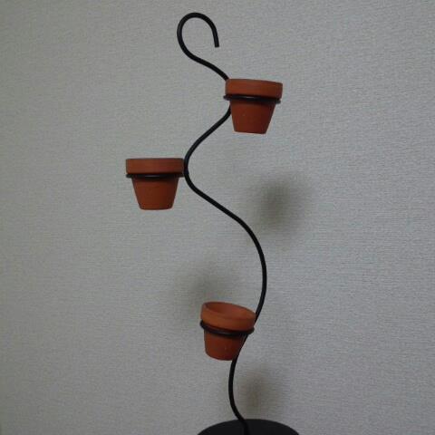 アイアン スタンド 植物 テラコッタ