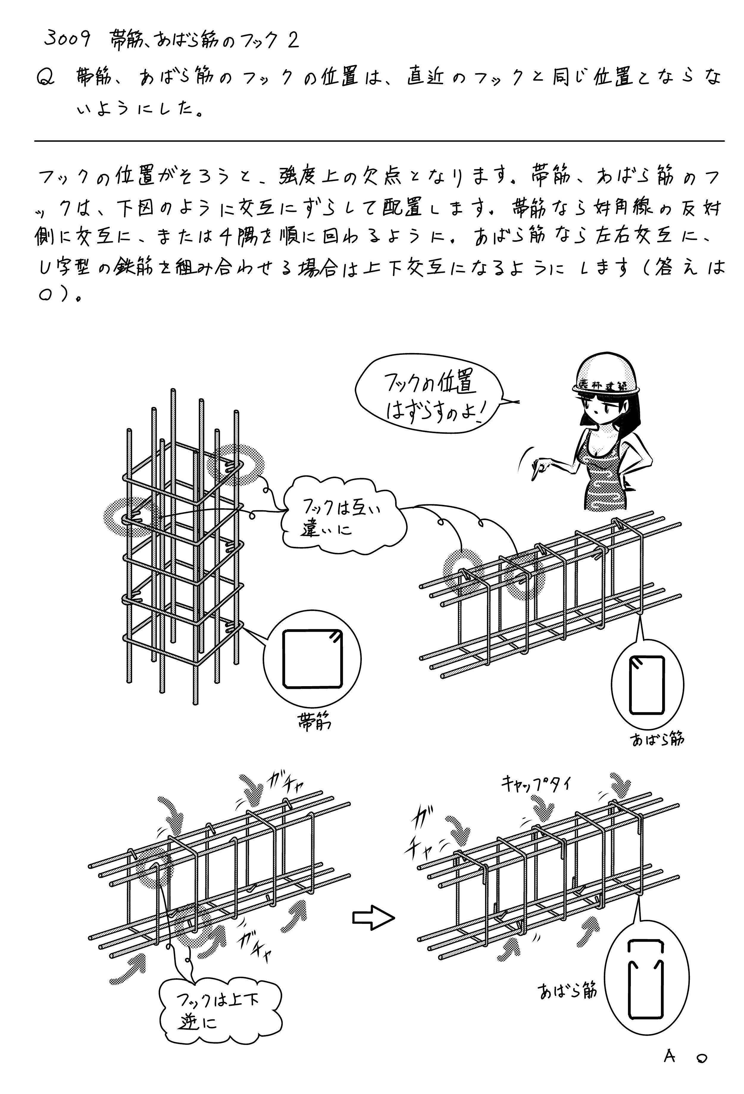 帯筋、あばら筋のフックの位置 | 原口秀昭≒原田ミカオの建築×不動産日記 - 楽天ブログ
