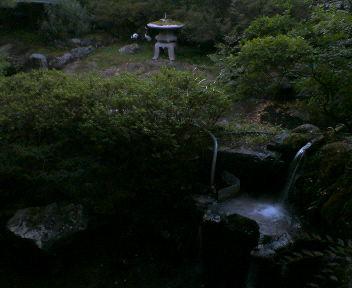 粟津温泉で一泊、宿の露天風呂から見た景色