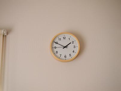 無印の掛け時計 スマイル