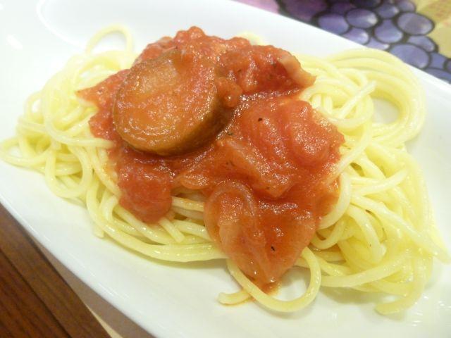 茄子とベーコンのトマトスパゲッティー.JPG
