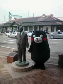 画像-くまもん&漱石