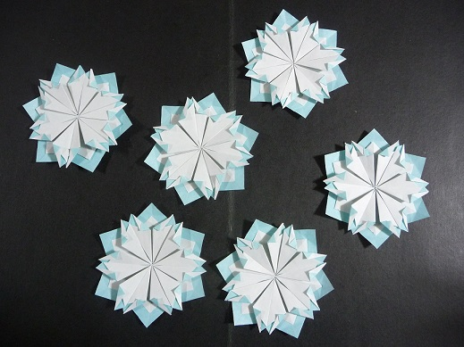 簡単 折り紙 雪の結晶 折り紙 作り方 : divulgando.net