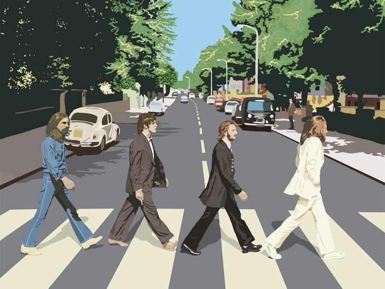 ビートルズ 横断歩道 イラスト