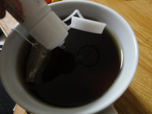 お茶に酸素投入~