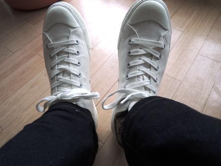無印良品 新 コットンスニーカー 白 | 小遣い3万円サラリーマンのブログ - 楽天ブログ