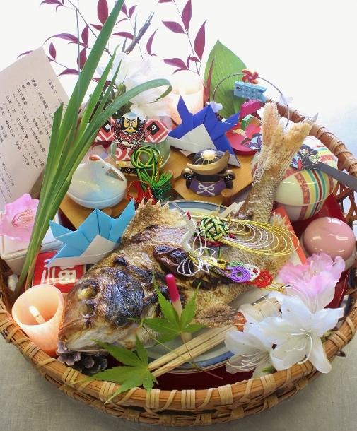 すべての折り紙 菖蒲 折り紙 : 本日の初節句のお祝い膳です。
