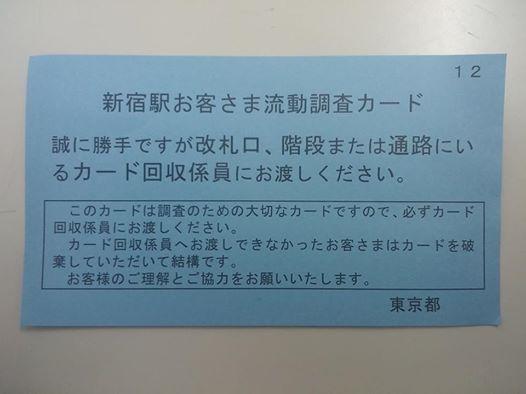 新宿駅前交通量調査