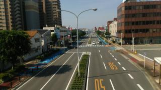 世界遺産の在る街並みの写真