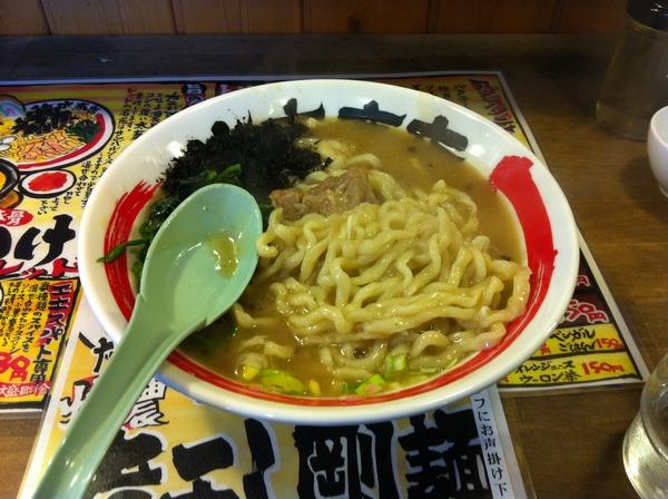 竹本商店 つけ麺 北辰堂   特濃 煮干し剛麺(トロ肉入り) 麺