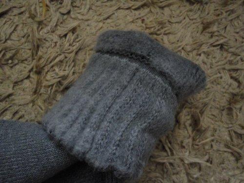 毛布のような靴下の中面