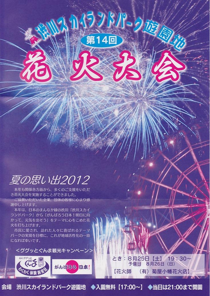 渋川スカイランドパーク・第14回花火大会