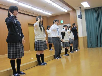 身延山高等学校制服画像