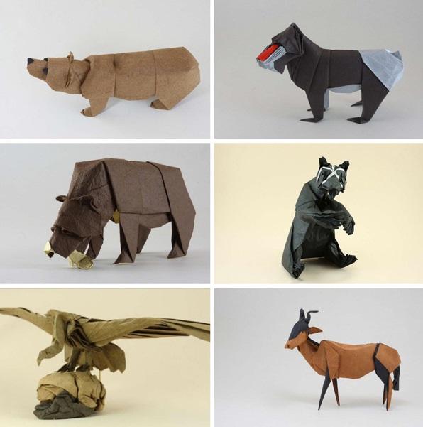 すべての折り紙 折り紙 日本 : 折り紙でリアルな野生動物を ...