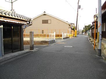 京阪八幡市駅周辺 巡検道 巡検道の標石同上同上ここを起点として東へ向かう道が「巡検道(じゅんけん