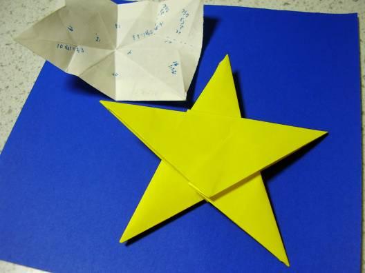 すべての折り紙 星の作り方 折り紙 : 折り紙 の コマ と 星 折り紙 星 ...