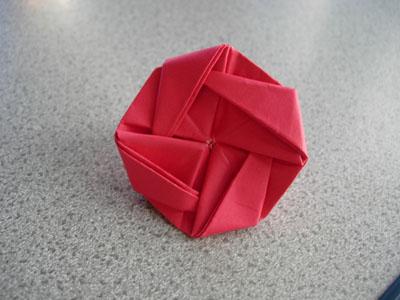 折り紙 コマ の 作り方