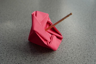 折り紙の 折り紙のコマの作り方 : plaza.rakuten.co.jp