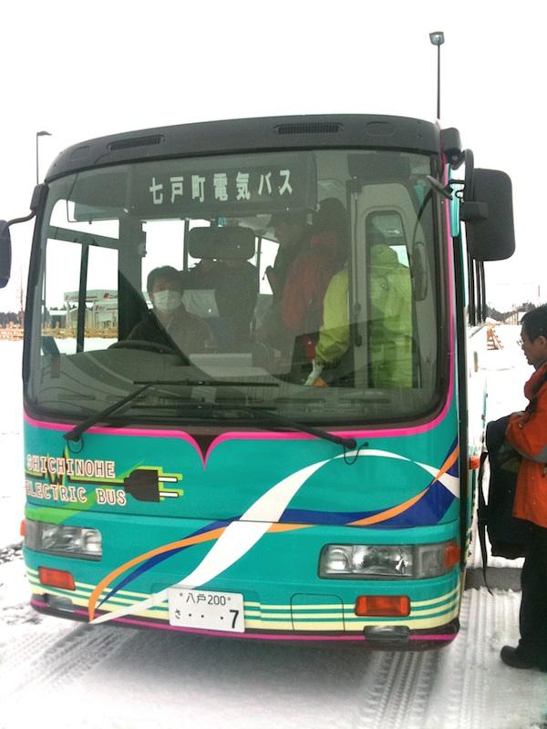 七戸町電気バス!(青森七戸)2011.2.12 | ひなちゃん 週末の旅 ...