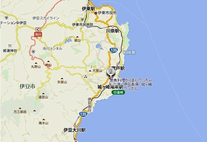 東伊豆地図