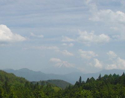 増穂町からの富士山