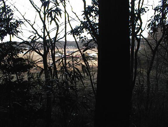 遠くに見える西豊田