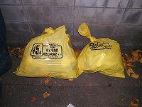 黄色いゴミ袋