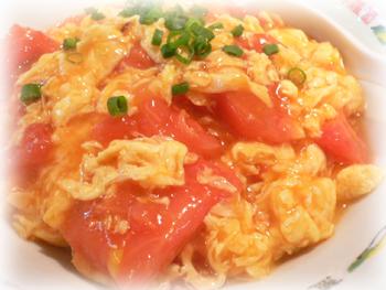 トマトたまご丼