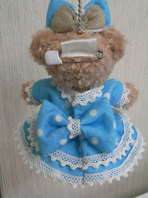 ぬいぐるみバッチサイズのドレスの型紙と作り方、新作です。