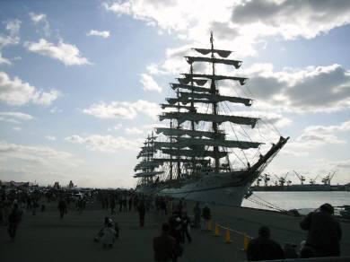 入港時の日本丸